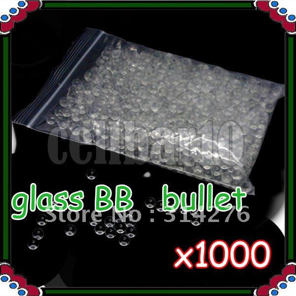 1000pcs x 6mm Glass Marbles Bullets BB Untuk BB Gun