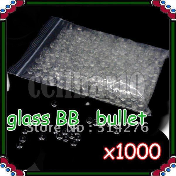 1000pcs x 6mm Glass Marbles BB Bullets For BB Gun