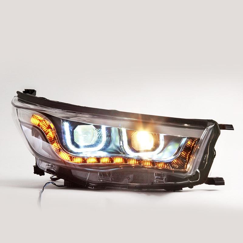 ФОТО Newest Type Car Accessories for Toyota HighLander Head Lamp Headlight Modify Custom 2015