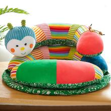 New Cartoon Baby Learning Sitting Chair Infant Safe Chair Caterpillar Small Sofa Plush Toy baby sofa hot seelling baby care
