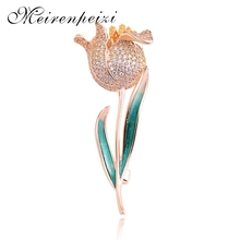 In 2019, the new fashion silver rose brooch pin high-end dance party women gifts luxury jewelry of high quality