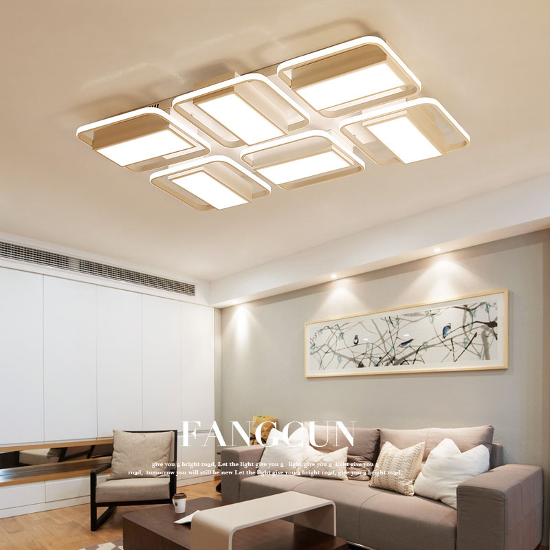 NEO Gleam Surface Mounted Rectangle modern led ceiling lights for living room bedroom lamparas de techo Study Room Ceiling Lamp crystal modern led ceiling lights for living room bedroom ac85 265v lustre lamparas de techo avize crystal ceiling lamp fixtures