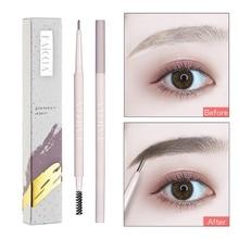 2019 1PC Super Slim Eyebrow Pencil Waterproof Long Lasting EyeBrow Makeup+1PC Brush Brown Makeup Set
