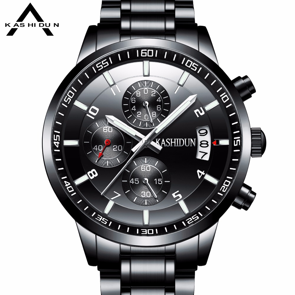 KASHIDUN Hot sell Luxury Brand Watches Men 2017 18 New Fashion Casual Dress Chronograph relogio masculino
