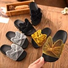 Тапочки детские летняя обувь для девочек Дети Черный
