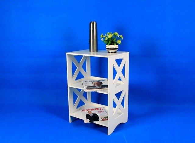 Fashion Furniture Bathroom Home Decor Flower Stand Shelf Carving Pattern Wood Book Rack