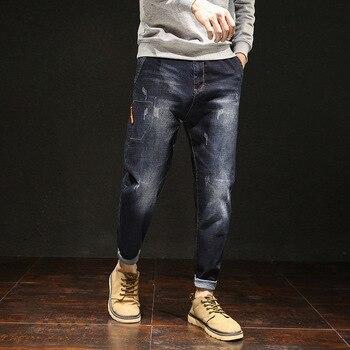 2019 New Fashion Denim Man Jeans Brand Mens High Quality Desinger Bike Classic Straight Plus Size 28-44 46 48 Hip Hop Streetwear