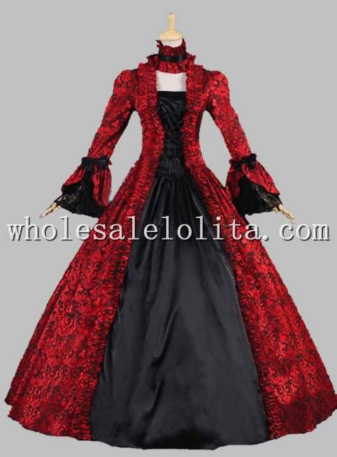 Georgian Victorian Gothic Period Dress Masquerade Ball