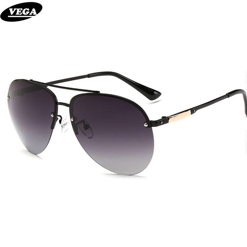 VEGA New Sunglass Styles Unique Half Frame Design Glasses Fashion Navy Air  Force Sunglasses Polarized Aviation Sunglasses 2520 04a503638ff