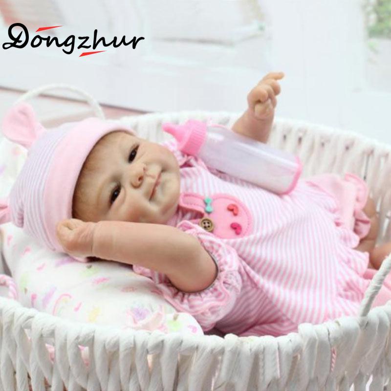 цена Silicone Reborn Baby Dolls Brown Eyes Sleeping Doll Baby Growing Toys Simulation Baby Dolls Npkdoll Reborn Tangkou Doll ingbaby