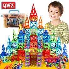 QWZ Brand 215pcs Mini Magnetic Blocks Building Construction Blocks Toy Bricks Magnet Designer 3D Diy Toys For Boys Girls Gift