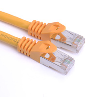 High Quality Cat 6 550MHZ SSTP RJ45 Ethernet Pure Copper Network Cable 10M 32 Feet 1m