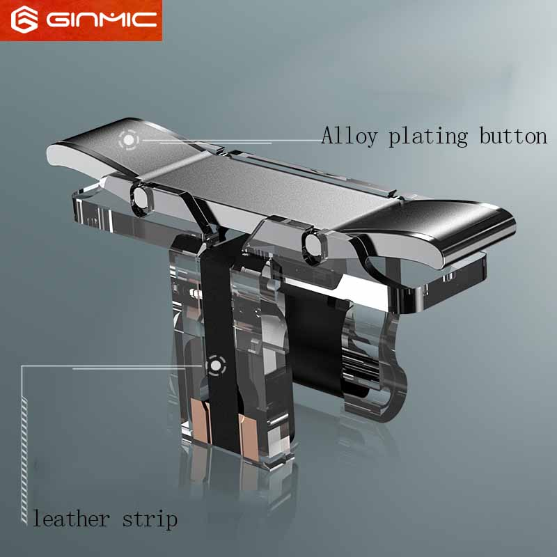 T10S Mobile Game Fire Button Aim Key Smart phone Mobile Game Trigger L1R1 <font><b>Shooter</b></font> Controller alloy plating version for PUBG image