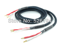 Free Shipping 2.5meter/pair Cardas cable OFC Hi Fi Speaker Cable with gold plated Banana plug connectors