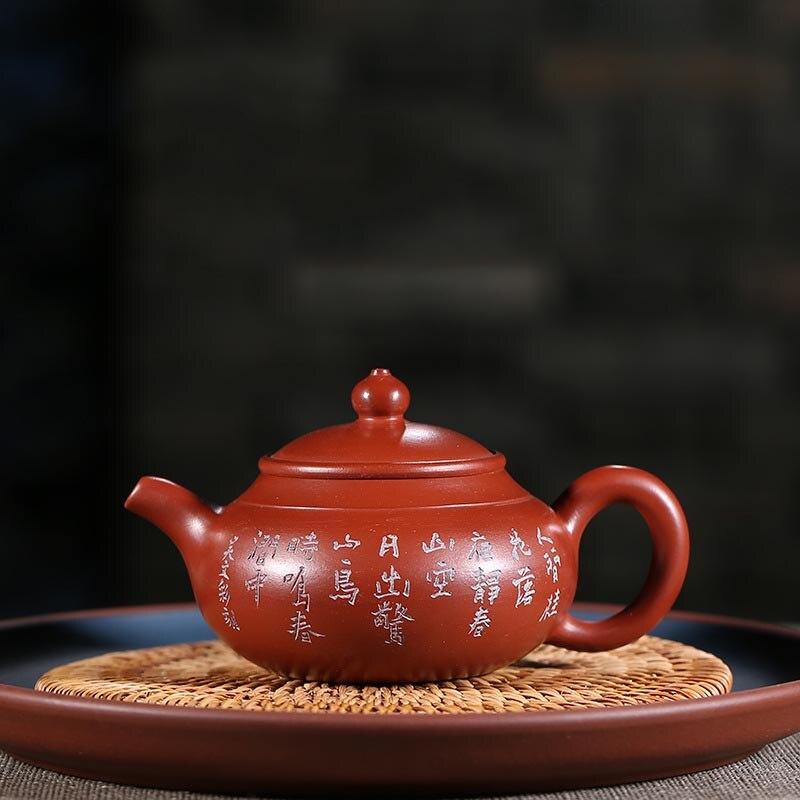 170ml Yixing Purple Clay Teapot Engraving Raw Ore Dahongpao Mud Zi Sha Pot Office Kung Fu Tea Set Drinkware Adornment Crafts170ml Yixing Purple Clay Teapot Engraving Raw Ore Dahongpao Mud Zi Sha Pot Office Kung Fu Tea Set Drinkware Adornment Crafts
