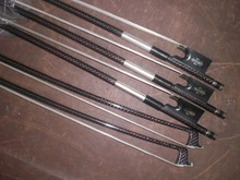 5 PC Strong Carbon Violin Bow 4 4 with Red Wire Pro Inlay White font b