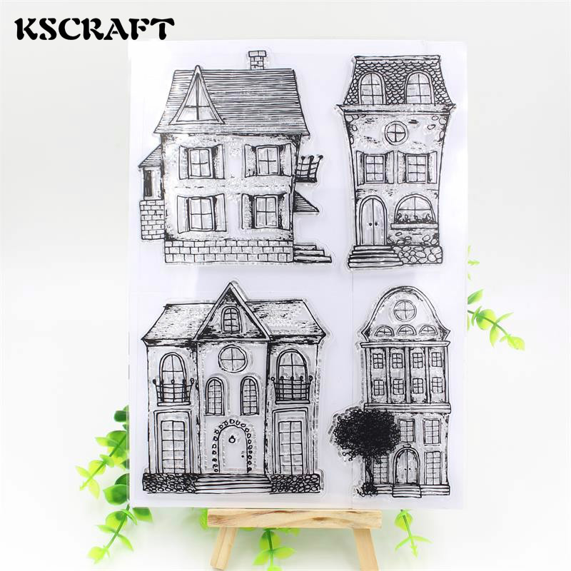 KSCRAFT House Transparent Clear Silicone Stamp/Seal for DIY scrapbooking/photo album Decorative clear stamp sheets wish list transparent clear silicone stamp seal for diy scrapbooking photo album decorative clear stamp sheets