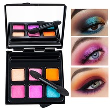 2019 New Highly pigmented waterproof face Cosmetic Matte Eyeshadow Cream Makeup Shimmer Set 6 Colors Eyeshadow palette