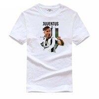 YUANHUIJIA Men T Shirt Print Casual T Shirts Boys Grils Short Sleeves Juventus Football Team O