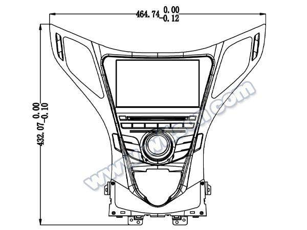 8 Android 8 0 Os Car Dvd Multimedia Gps Radio For Hyundai Azera