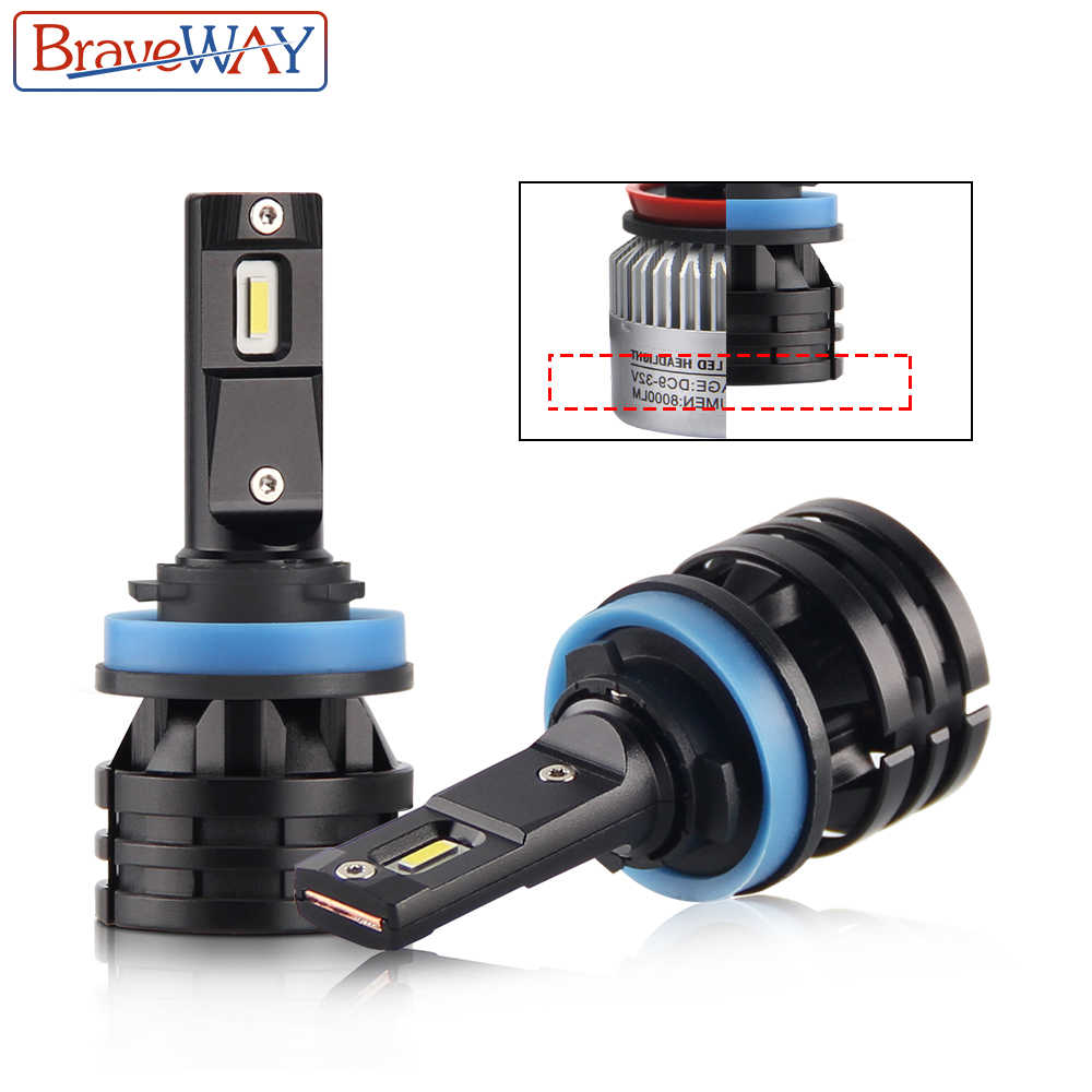 BraveWay CRE Chip H7 LED Car Light H7 9005 HB3 9006 HB4 LED Auto Bulb 6500K 12000LM 60W 12V H4 H11 LED Headlight for Motorcycle