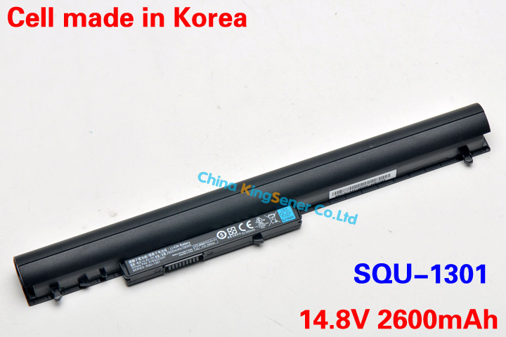 Korea Cell New Original Laptop Battery For Hasee SQU-1301 SQU-1302 SQU-1309 916Q2232H 14.8V 2600mAh/38WH Free Shipping 62wh korea cell original new laptop