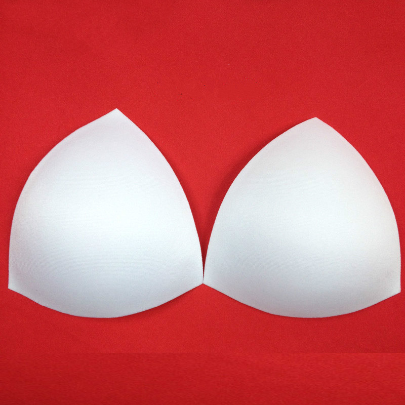 1Pair/Lot Women Intimates Accessories Triangle Sponge Swimsuit Breast Push Up Pads Chest Enhancers White Thin Bra Foam Insert
