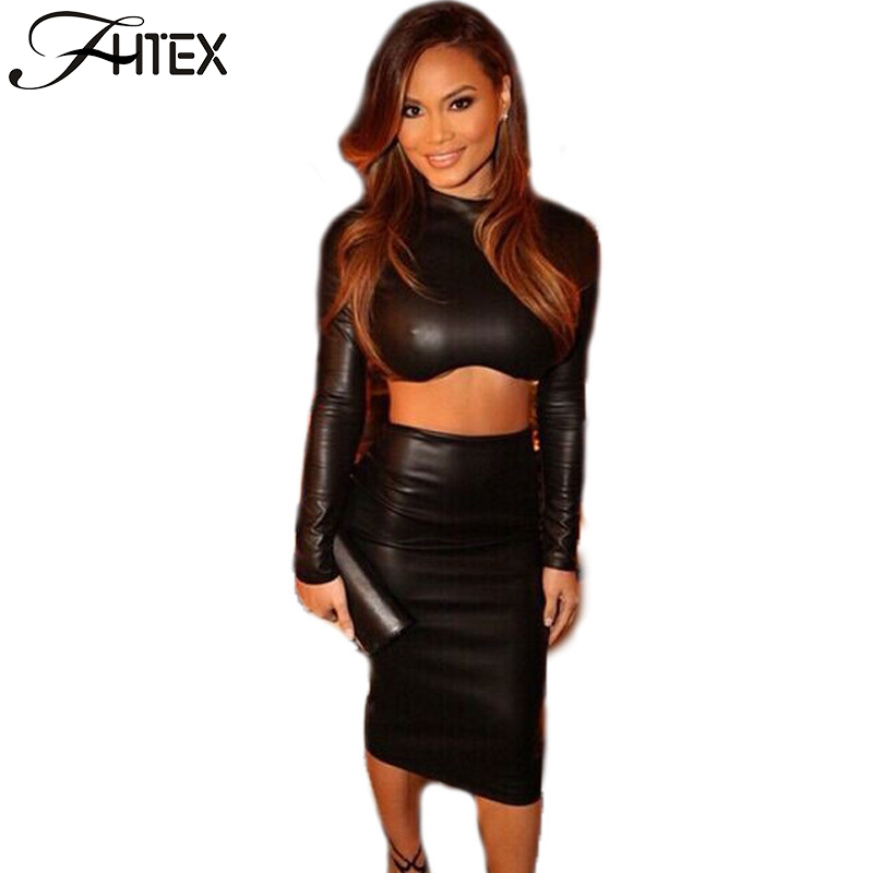 Popular Womens Leather Skirt Suits-Buy Cheap Womens Leather Skirt ...