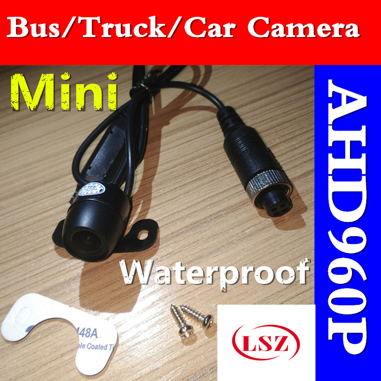 Professional car borne head waterproof / shock proof 960P infrared high-definition camera pinhole technology support