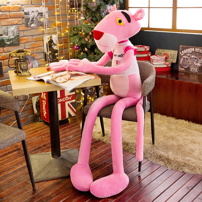 Dalang Pink Panther Plush Toy Creative Cute Naughty Panther Doll Birthday Gift Funny Give People Plush stuffed animals
