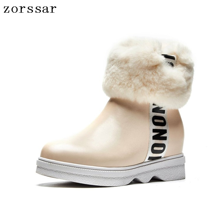 Zorssar Classic Women Winter Boots Suede Ankle Snow Boots Female Warm Fur Plush Insole High Quality Botas Mujer Lace-Up zorssar 2019 women s shoes winter plush women snow boots cow suede leather flat ankle boots female warm fur insole botas mujer