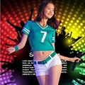 Cheerleading costume cheerleader uniforms cheerleading dancewear suit Football cheerleader Costume