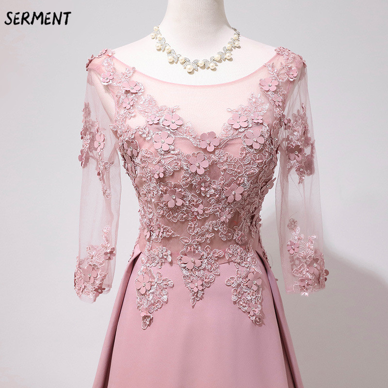 Evening Dress Female Foreign Trade Source 2019 New Banquet Temperament Queen Ladies Word Shoulder Fairy Toast Clothing Wholesale(China)