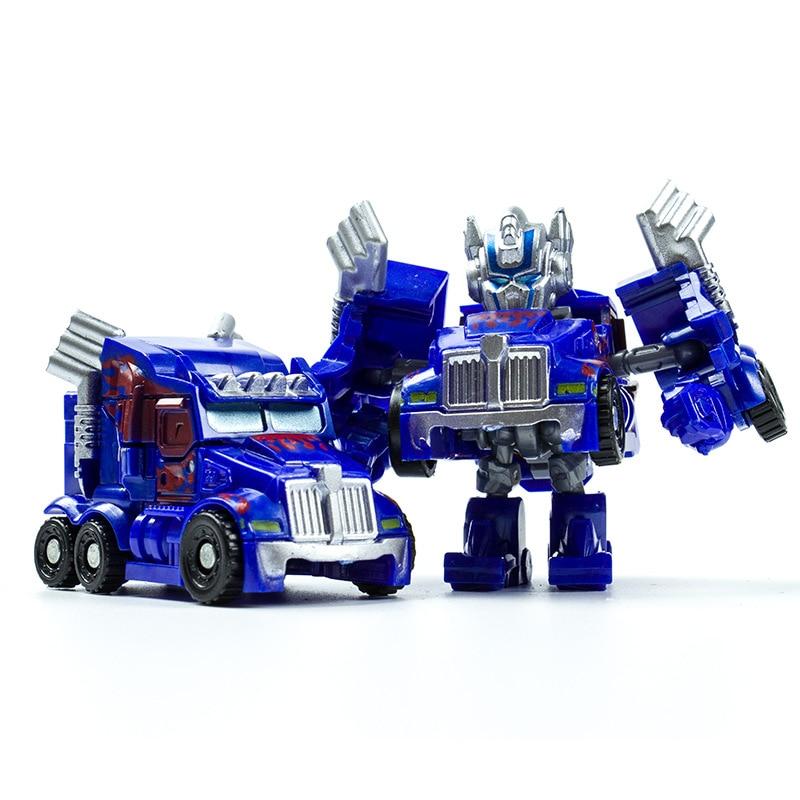 Mini Robot bil Transformation Robots Bilmodell Klassiska pojkar - Toy figuriner - Foto 6