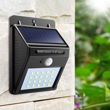 PIR Motion Sensor bulb LED Solar light 20 LED Outdoor Power Wall Light Street Path Home Garden Security Lamp Waterproof