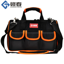 Large Tool Bags 12151719 Oxford Cloth Bag Waterproof Wide Mouth Electrician Organizer Storage With Parts Box For Men