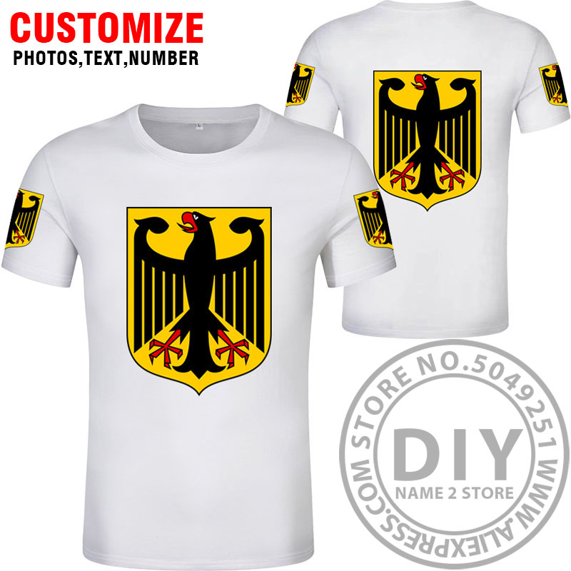 Image 4 - GERMANY t shirt free custom diy name number deu t shirt nation flag de country german bundesrepublik college print photo clothes-in T-Shirts from Men's Clothing