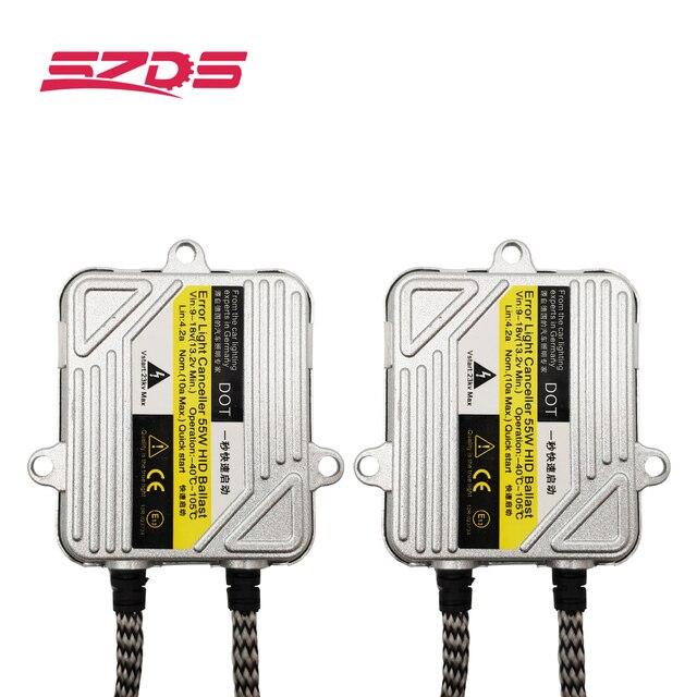 SZDS 9005 HB3 9006 HB4 H1 H3 H7 H8 H9 H11 881 880 55 ワットの車のライト HID キセノンバラストフォグライトスイッチ