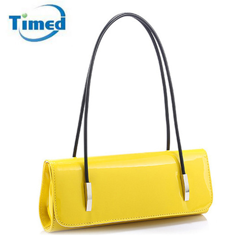 Quality PU Leather Evening Bag 2017 New Candy Color Lady Handbags For Party Eleg