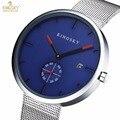 Top marca kingsky relojes de las mujeres ultra delgado de acero inoxidable banda analógico de cuarzo reloj relojes de pulsera de lujo relogio feminino