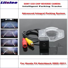 Liislee Intelligentized Reversing Camera For Honda Fit Hatchback / Insight Jazz Rear View Back Up Dynamic Guidance Tracks