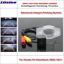 Liislee Intelligentized Reversing Camera For Honda Fit Hatchback / Insight Jazz Rear View Back Up Dynamic Guidance Tracks