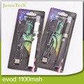 2015 cigarrillos electrónicos Kits MT3 EVOD 1100 mah EVOD batería EVOD atomizador mejor E Kits de cigarrillos con cargador USB