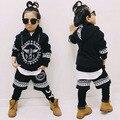 2017 Nova moda Primavera impressão MENINO das crianças Trajes crianças terno do esporte de conjunto de roupas streetwear Hip Hop harem pants & sweatshir
