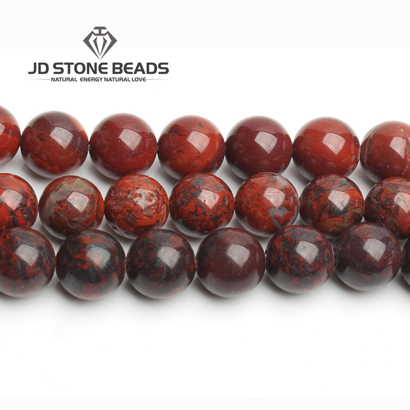 Top Sale Nature Stone Beads Red Blood Jasper Gemstone Round Loose Bead 6/8/10/12mm Pick Size Breciated jasper For Jewelry MakingTop Sale Nature Stone Beads Red Blood Jasper Gemstone Round Loose Bead 6/8/10/12mm Pick Size Breciated jasper For Jewelry Making