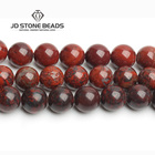 Top Sale Nature Stone Beads Red Blood Jasper Gemstone Round Loose Bead 6/8/10/12mm Pick Size Breciated jasper For Jewelry Making
