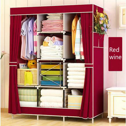 Wardrobe Closet Large And Medium Sized, Wardrobe Cabinets Simple Folding  Reinforcement Receive Stowed Clothes Store Content Ark In Wardrobes From  Furniture ...