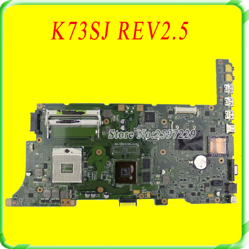 For Asus Motherboard K73SJ REV2.5 Mainboard HM65 PAG 989 GT520M Non-intergated 100% Test work well for lenovo ideapad g710 z710 motherboard dumbo2 rev2 1 mainboard gt745 2g non intergated 100