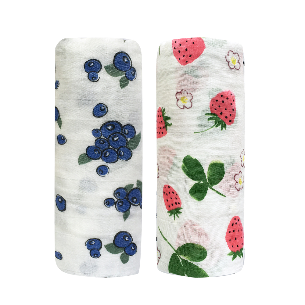 2pcs Baby Blanket Bamboo Cotton Muslin  Swaddles For Newborns Bath Towel Kids Stroller Bedding Wrap Baby Products