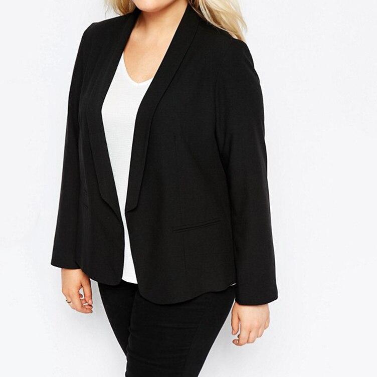 78f04c9eb0 Kissmilk Plus Size Mulheres 2018 Novos Ternos Básicos Jaquetas Workwear  Escritório Senhora Entalhado Collar Manga Comprida Blazer Casaco Feminino  em Blazers ...